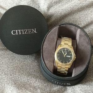 Men's Black and Gold Citizen Watche